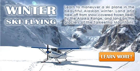 Winter Ski Flying from Alaska Floats & Skis